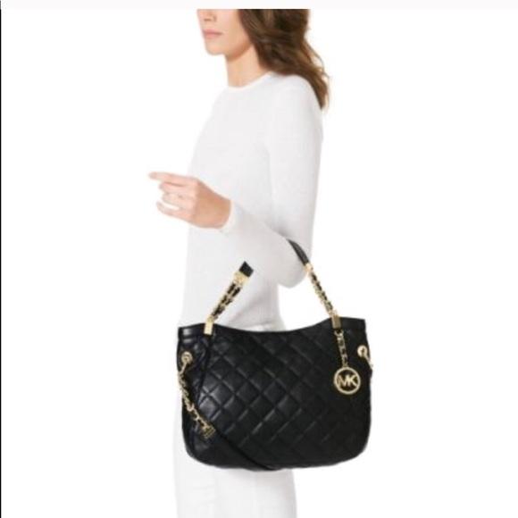 1f59d5f45a96 Michael Kors quilted Susannah medium shoulder bag.  M_5ad22d95caab44a601fb497b